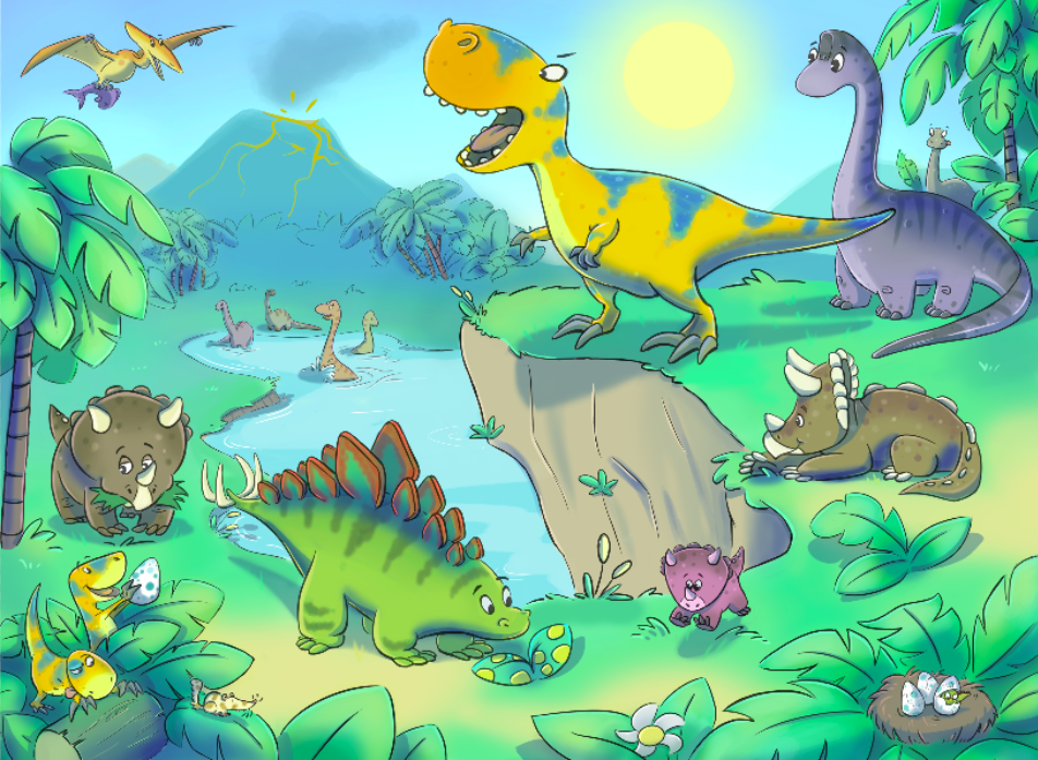 Buy Childrens Dinosaur Murals For 3500 Per Sq m2 Kids