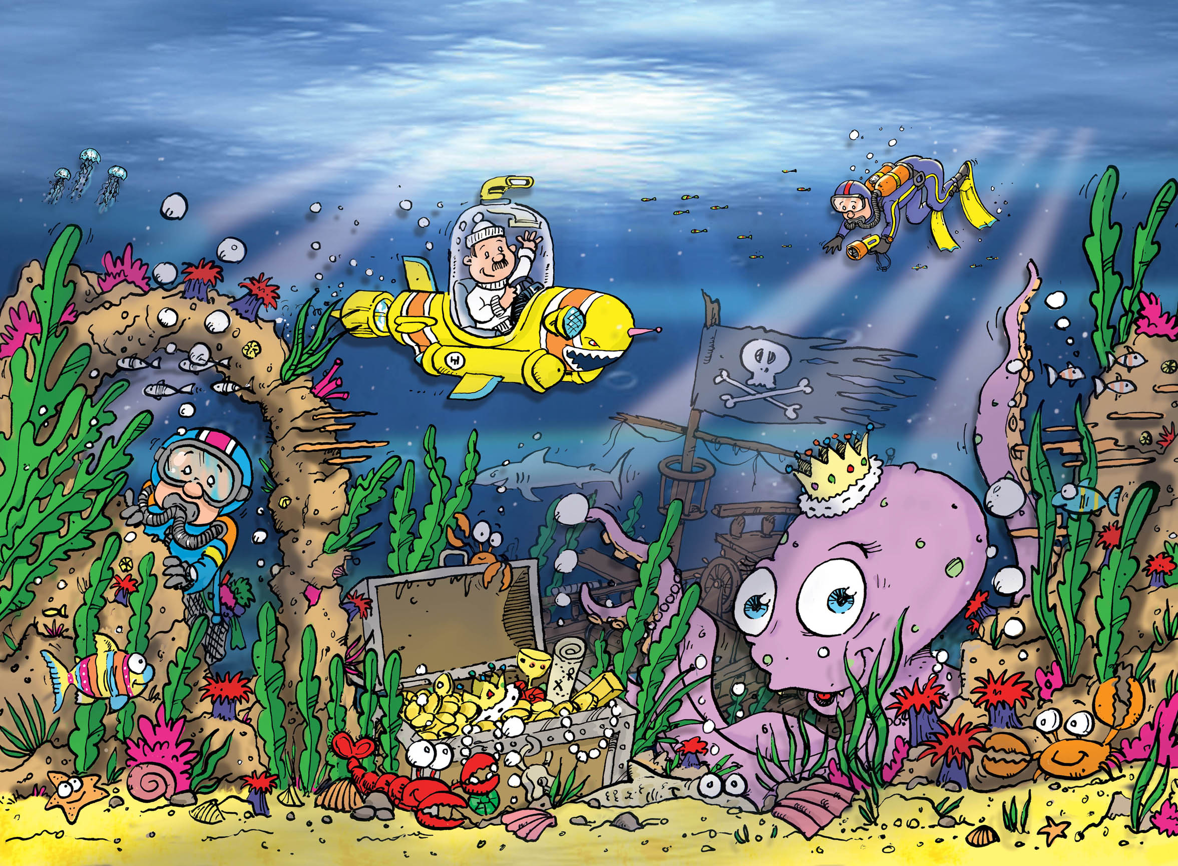 Buy childrens underwater wallpaper murals for per for Childrens mural wallpaper