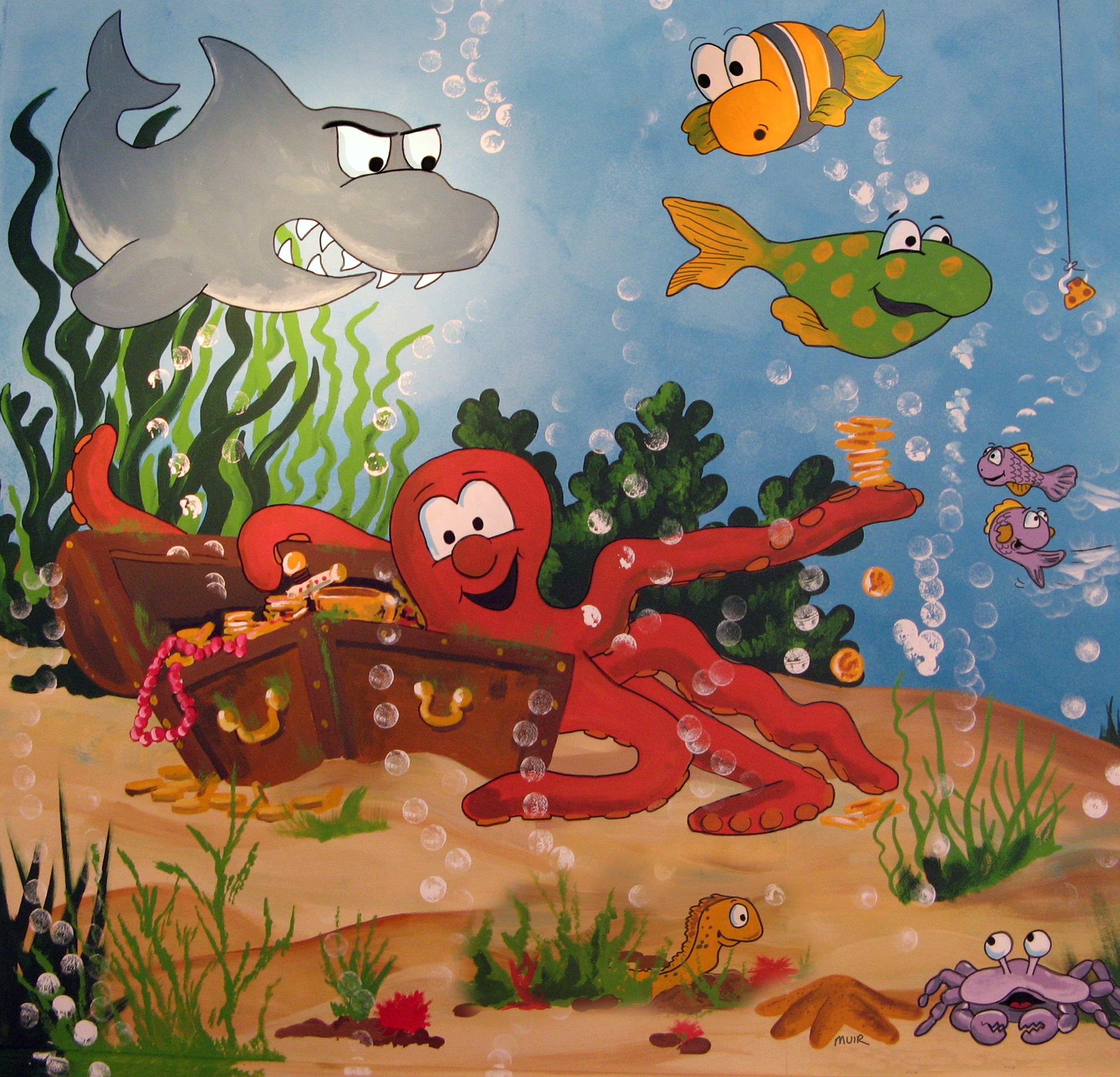 Buy childrens underwater murals for per sq m2 for Underwater mural ideas