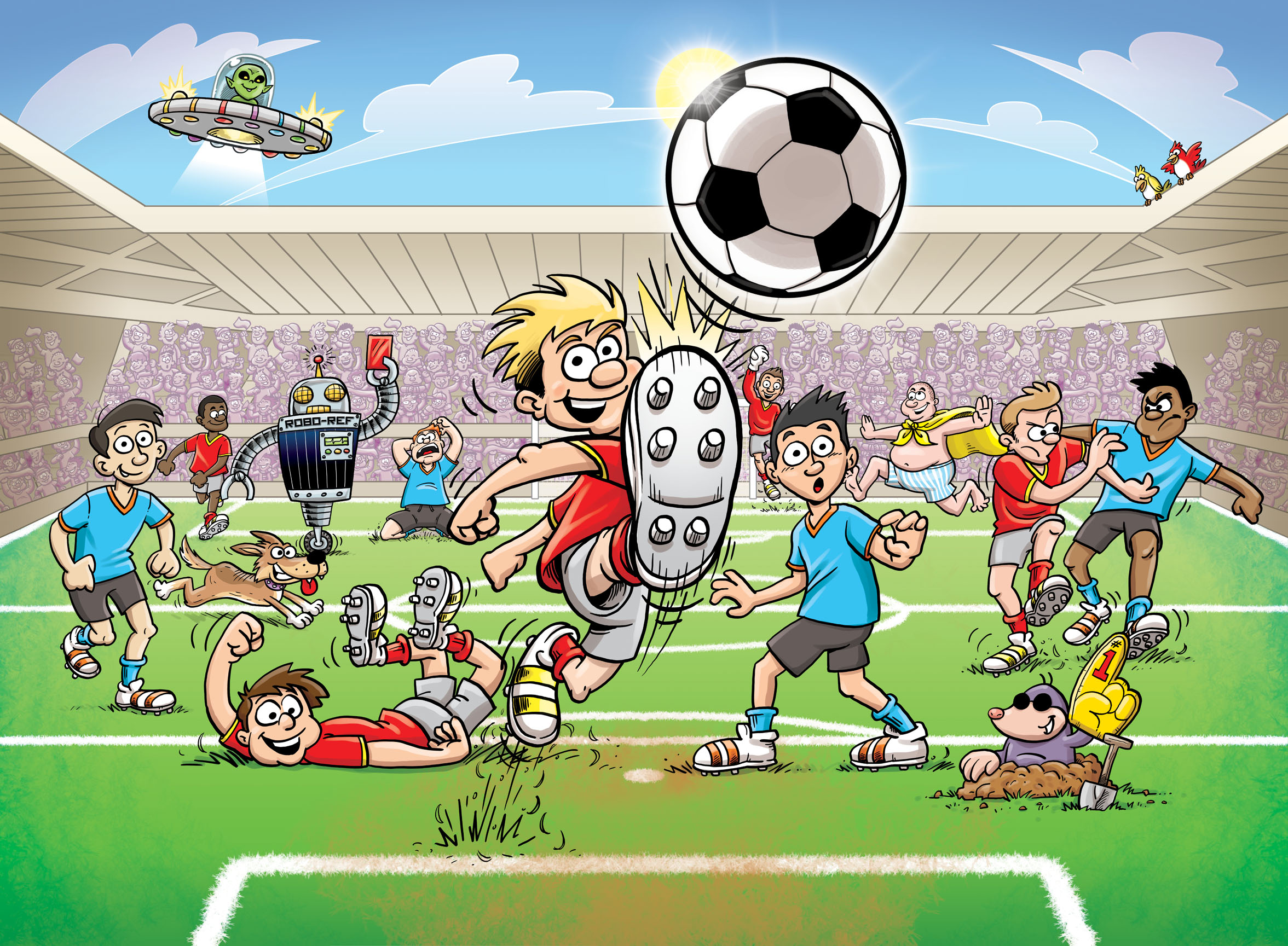 Buy childrens football wallpaper murals for per sq for Children mural wallpaper
