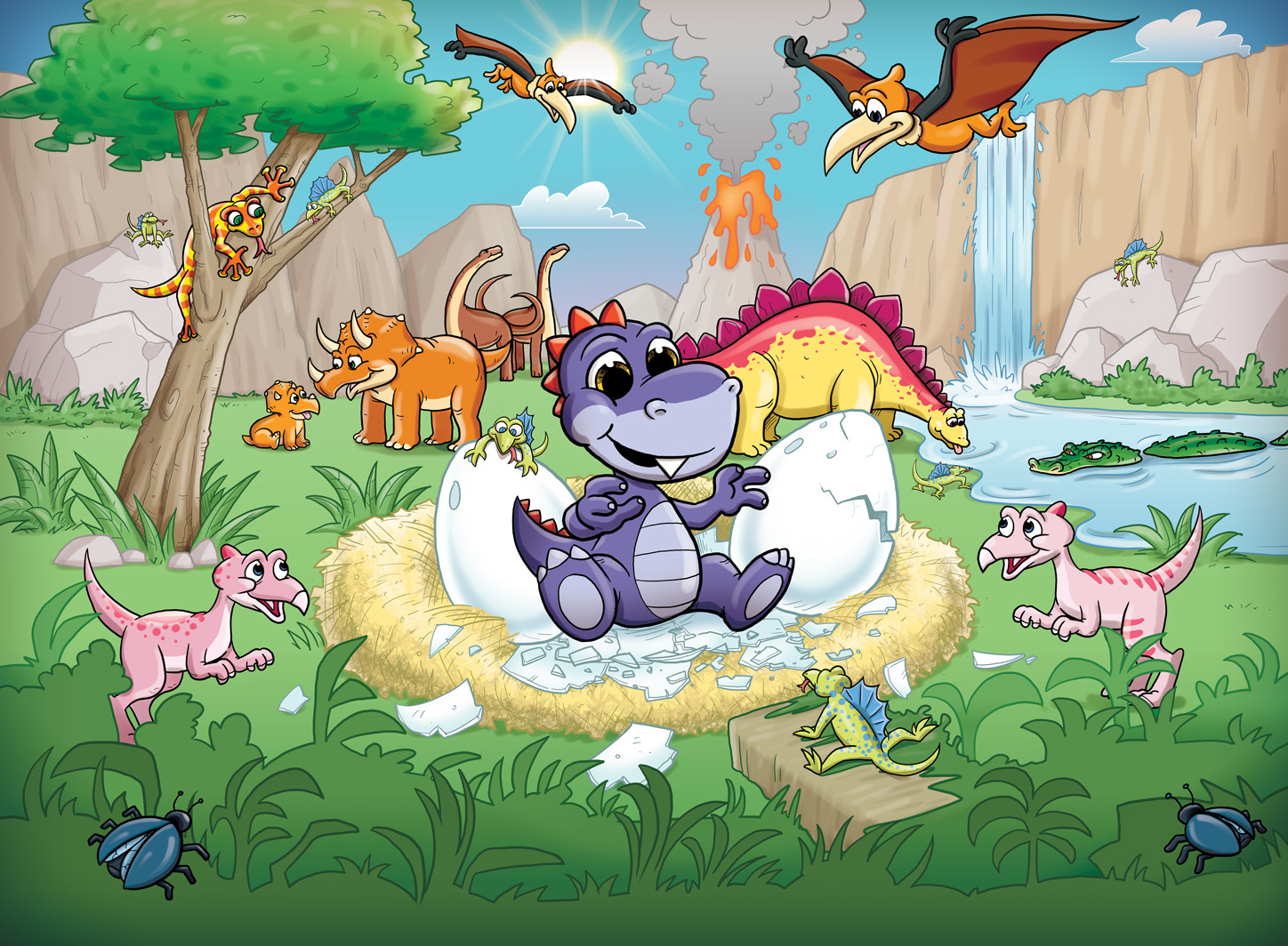 Buy childrens dinosaur murals for per sq m2 kids for Dinosaur mural ideas