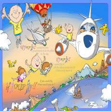 Buy Childrens Aeroplane murals