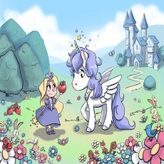 Buy Childrens Little princess and unicorn wallpapers