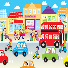 Buy Childrens Cars and buses murals