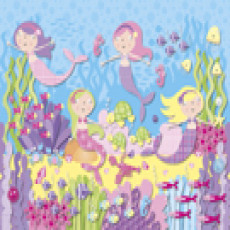 Buy Childrens Pink mermaids murals