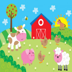 Buy Childrens Farmyard murals