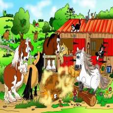 Buy Childrens Ponies murals