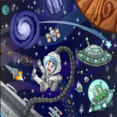 Buy Childrens Outer space murals