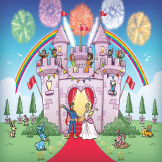 Buy Childrens Princess party castle mural | Girls murals