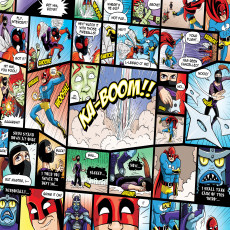 Buy Childrens Comic mural colours