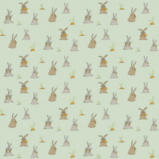 Buy Childrens Bunnies mural green