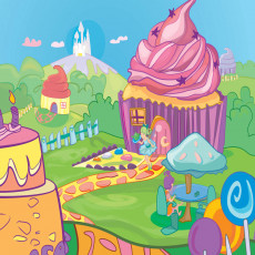 Buy Childrens Cupcakes murals