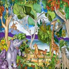 Buy Childrens Jungle murals