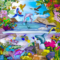 Buy Childrens Bird and undersea murals