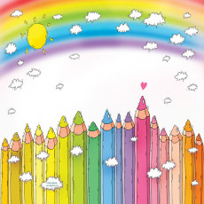 Buy Childrens Pencils and rainbows murals