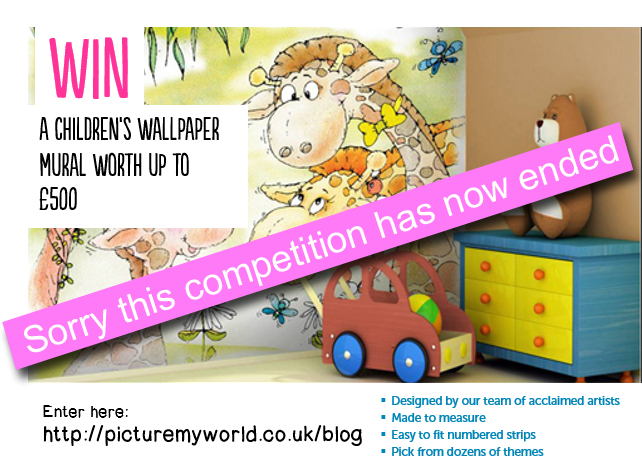 WIN a Personalised kids wall mural worth £500 !!!