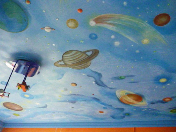 Picture my world news for Space wallpaper for kids room